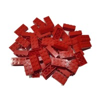 Kocke 2x4 rdeče, 50 kos